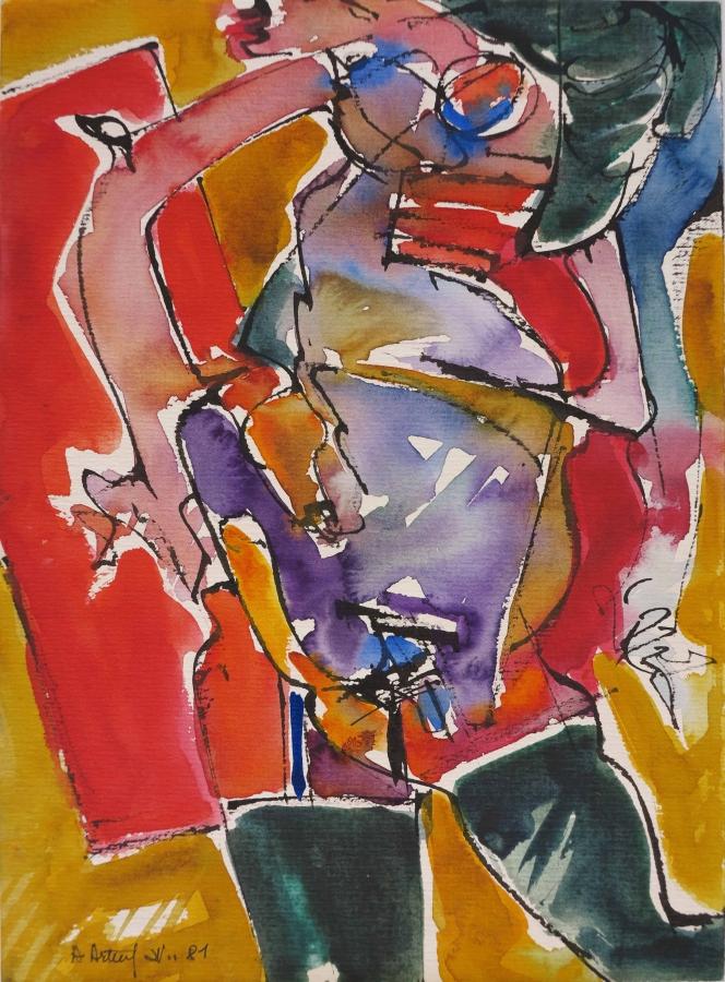Pittura su carta, Nudo-2