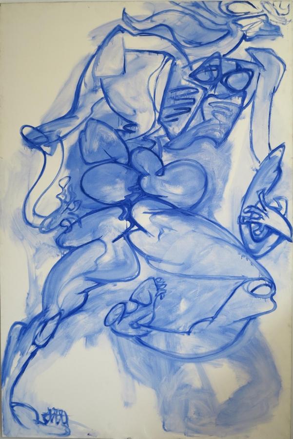 Grande nudo azzurro